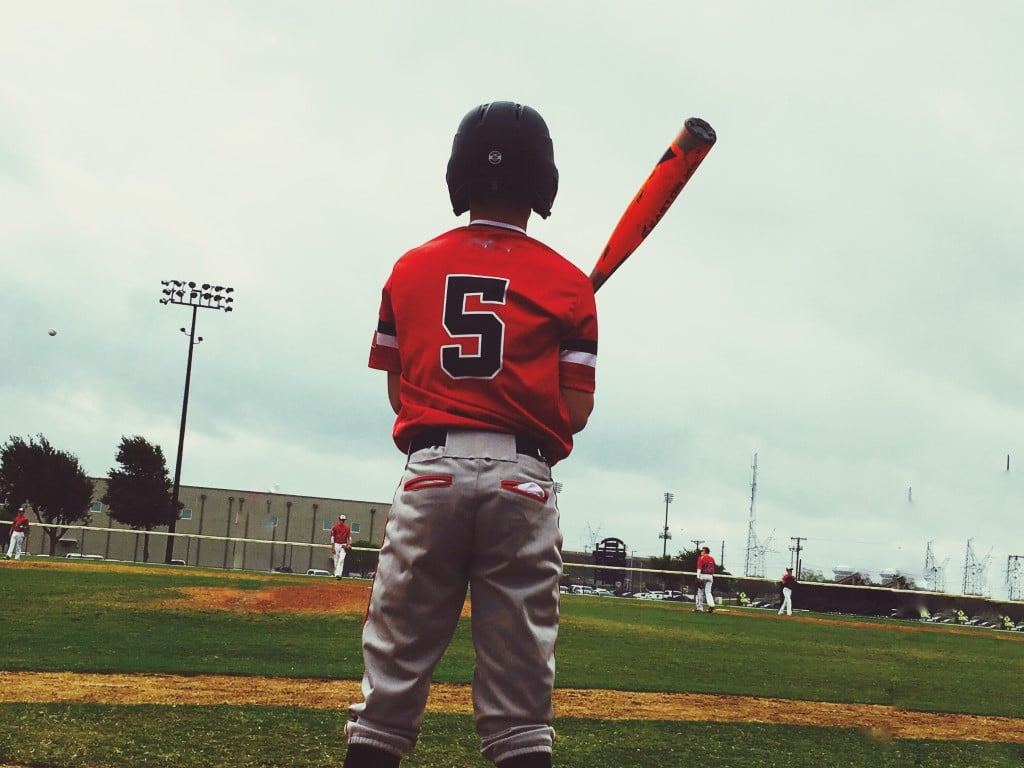 Youth Baseball Player Getting Ready To Bat During Bsgdt4b (medium)